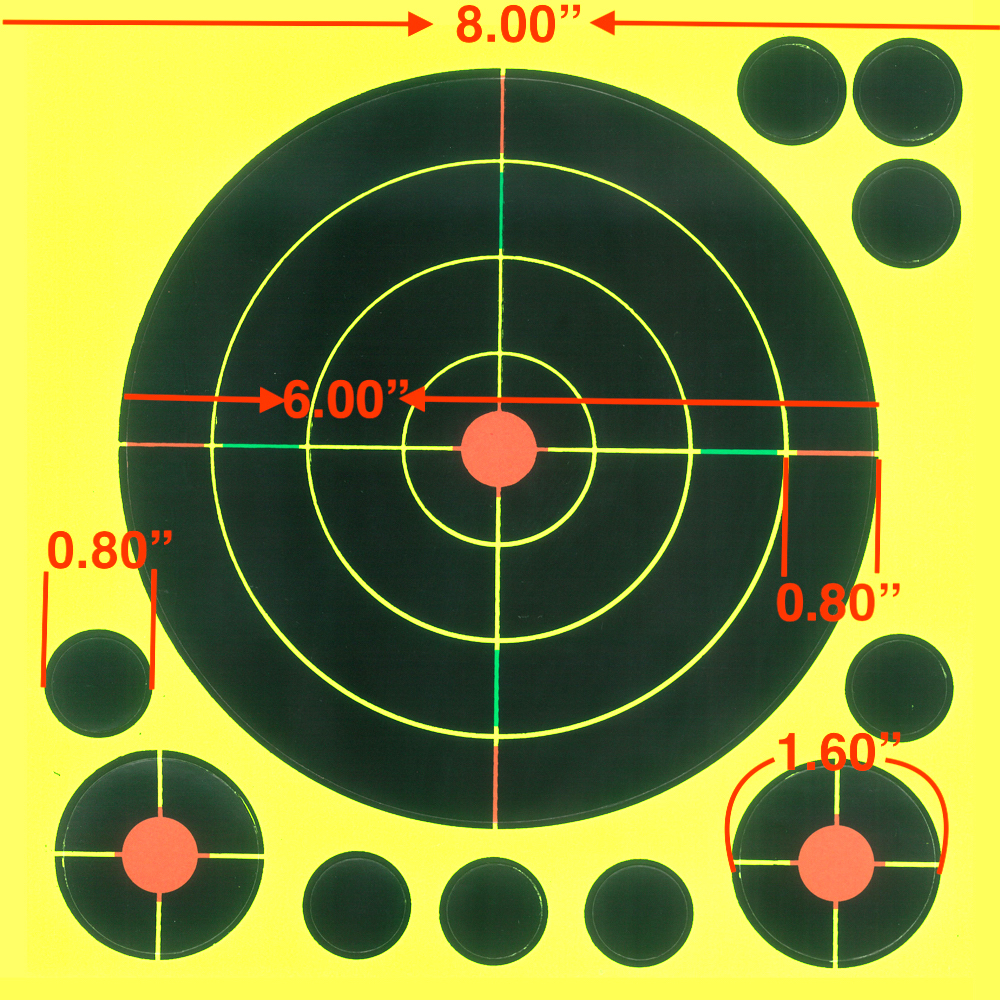 """Image 5 - Gun  Air rifle Shooting targets 8""""X8"""" Triple Colors Reactive & splatter Shooting targets-in Paintball Accessories from Sports & Entertainment"""