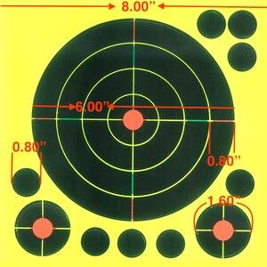 "Image 5 - Gun Air rifle obiettivi di Ripresa 8 ""X 8"" Colori Triple Reattiva & splatter obiettivi di Ripresa"
