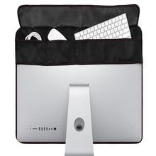 Новинка! 21 дюймов 27 дюймов черный полиэстер компьютерный монитор защита от пыли с внутренней мягкой подкладкой для Apple