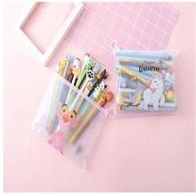 TOPSTHINK Cartoon characters pencil bag transparent plastic pencil pouch animal vivid pen novelty pencil case 20 pcs set chungwa colorful wooden pencil set multicolored 36 pcs