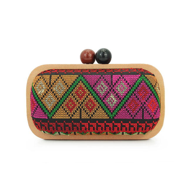 Us 270 Wooden Frame Geometric Pattern Evening Clutch Bag For Women Lady Handbag C545 In Clutches From Luggage Bags On Aliexpresscom Alibaba