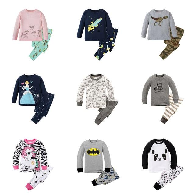 Little Bitty 2019 Brand New Pyjamas Baby Boys Sleepwear Kids 100% Cotton Long Sleeve Fashion Cartoon Panda Pajamas For Girls