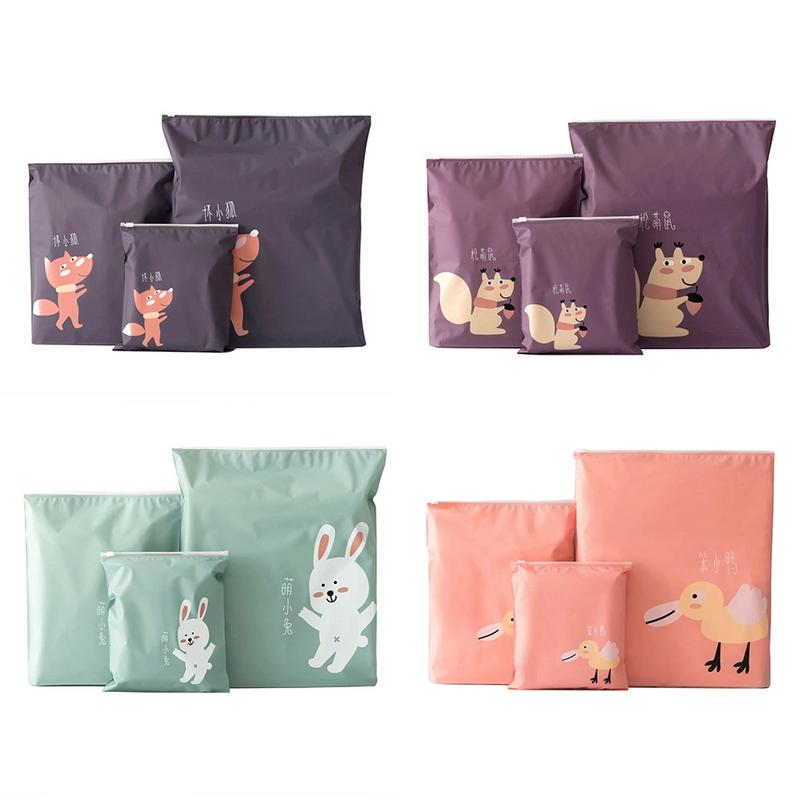 Cartoon Waterproof Travel Accessories Packing <font><b>Organizers</b></font> Storage Zipper Bag Package For Shoes Pocket Packs Travelling Pouch Bags image