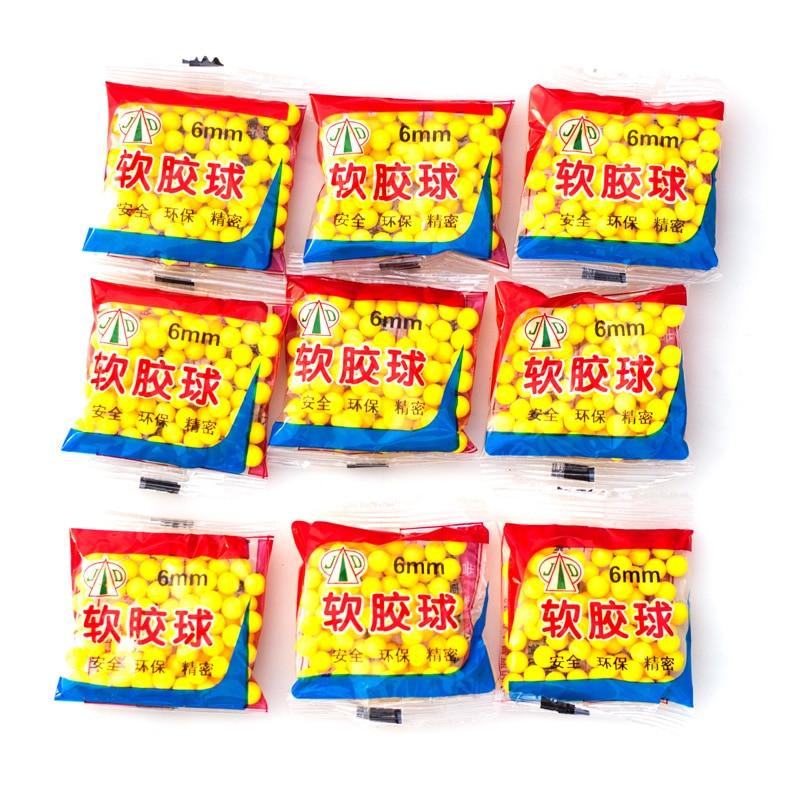 1 Bag 70-80pcs 6mm Soft Safe Shoot Gun Rubber Ball Bullet Outdoor Toys Accessories For Children