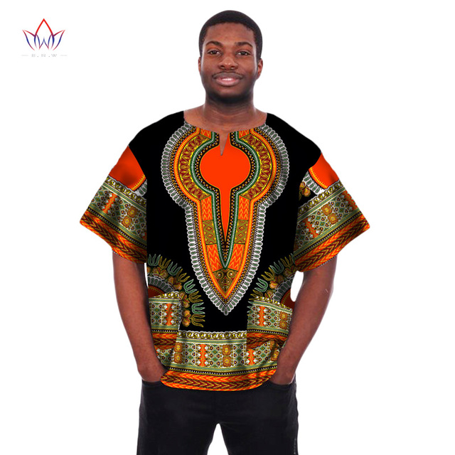 Mens African Clothing African Print Wax Dashiki Men t Shirt Plus Size  African Clothing Brand Clothing Men Shirt Crop Tops WYN04 d063a471fba5