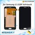 Pantalla lcd para samsung galaxy j1 j120f j120m j120h j120 pantalla táctil digitalizador con piezas de repuesto de 1 unidades el envío libre