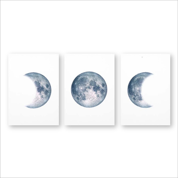 Moon-Phases-Poster-Print-Full-Moon-Half-Moon-Wall-Art-Canvas-Painting-Night-Sky-Space-Galaxy (5)