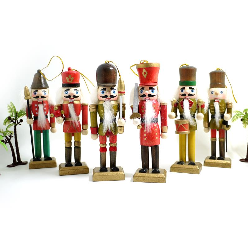 ᐂHt027 envío libre títeres muñeca 13 cm soldados Cascanueces nogal ...