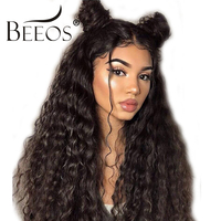 Pre Plucked Full Lace Human Hair Wigs With Baby Hair For Women Natural Black Glueless Indian Deep Wave Full Lace Wigs Remy Wig
