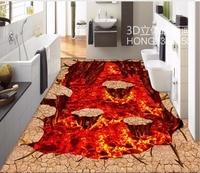 3d flooring Volcanic magma street park 3D floor painting 3d wallpaper waterproof 3d floor painting wallpaper