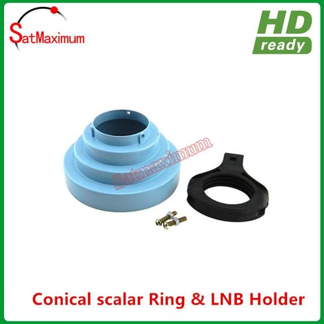 Free shipping 100% aluminum Conical scalar ring & 65mm C Band LNB holder