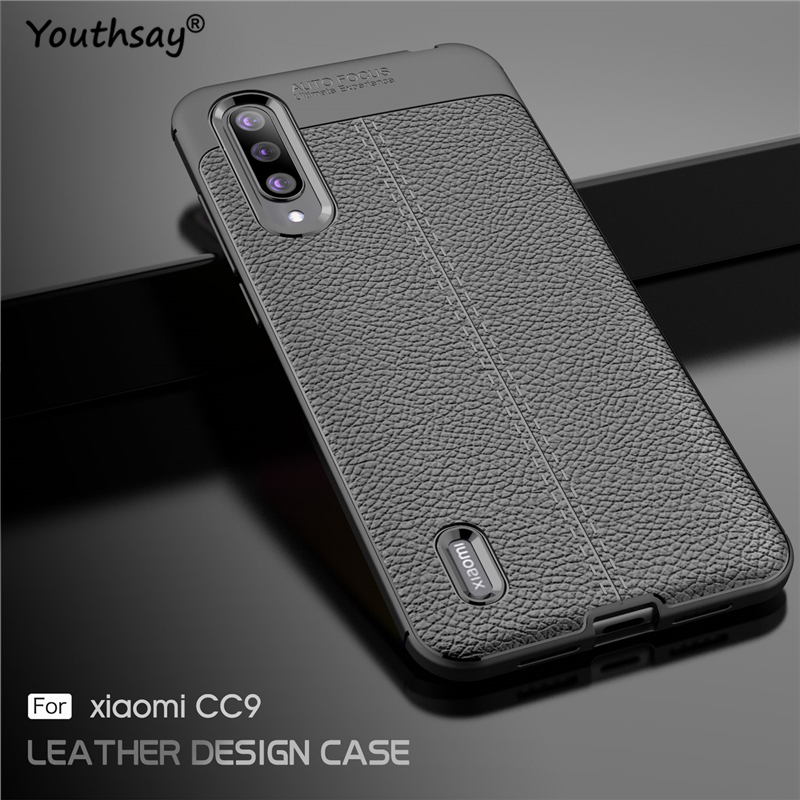 For Xiaomi Mi CC9 Case Luxury Leather Silicone Fundas Case For Xiaomi Mi CC9 Cover For Xiaomi Mi CC9 Case in Fitted Cases from Cellphones Telecommunications