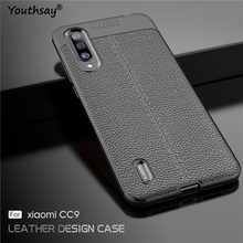 For Xiaomi Mi CC9 Case Luxury Leather Silicone Fundas Cover