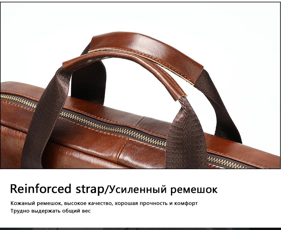 16 Bag Men's Genuine Leather Briefcase Male Handbags Lawyer Man Laptop Bag Leather for Men Messenger Bags Men's Briefcases