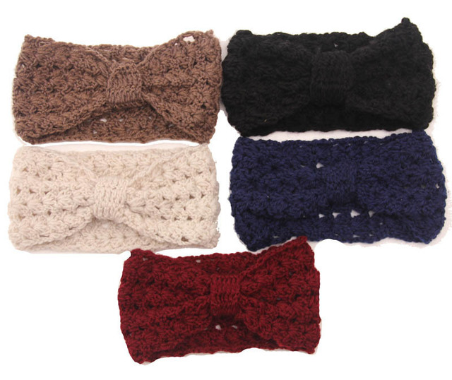 women Knitted Headband Chunky Headband winter Ear Warmer Cabled ...