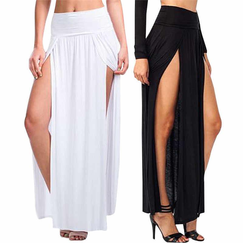 3fadc85ddaec8 Detail Feedback Questions about 2018Fashion Double Split Slit Skirt ...