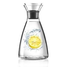 1L Transparent Heat-resistant Glass Beverage Pitcher Watter Bottle Coffee Pot Water Jug Carafe