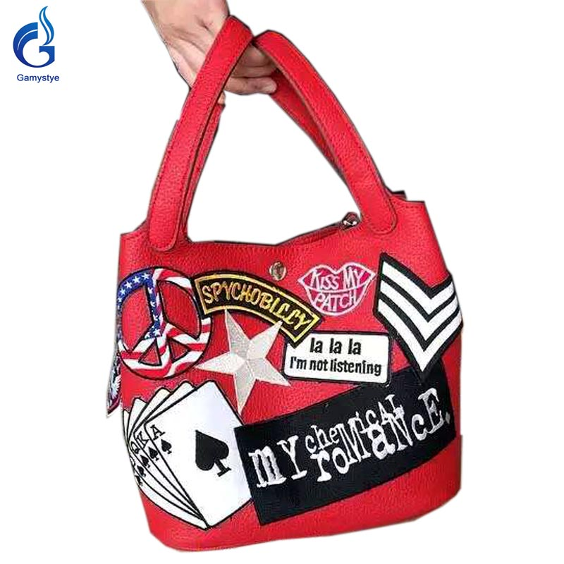 2016 New arrival Graffiti Custom Women Messenger Bags Hand Painted bags painting poker totes Female bags waterproof art handbags rock skull graffiti custom bags handbags women luxury bags hand painted painting graffiti totes female blose women leather bags