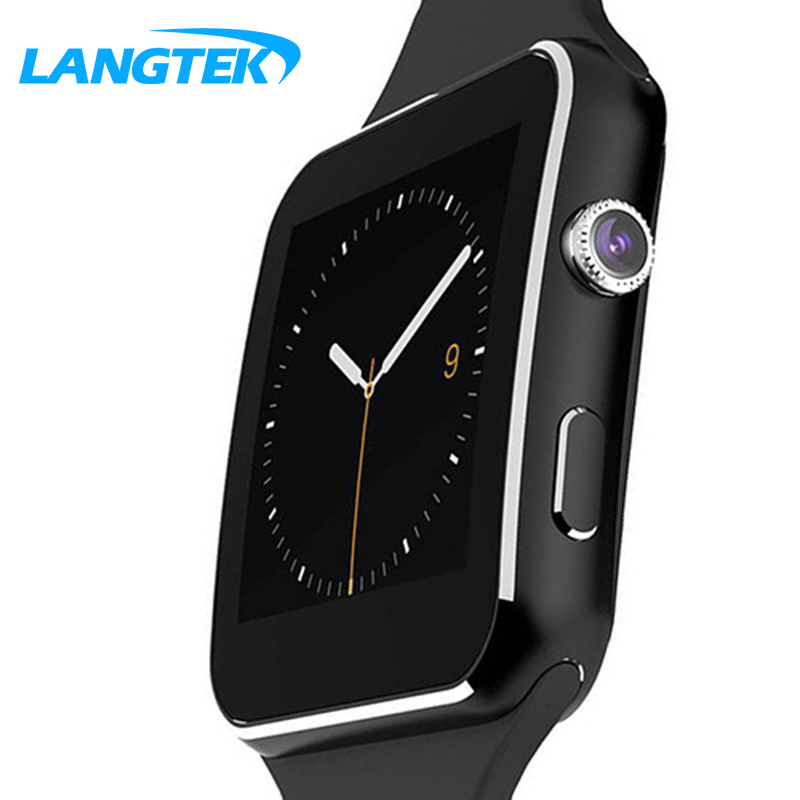 X6 Smart Watch Android Smartwatch HDFashion Curved Display Sync Facebook Whatsapp Message Support Sim TF Smart Watch pk dz09