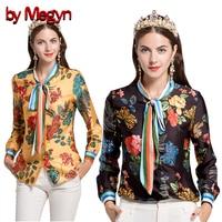 By Megyn Women Shirt Long Sleeve 2017 Autumn Free Shipping Blouses Fashion Women Shirts Feminine Shirt
