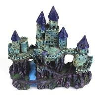 25cm Medieval Towers Castle Aquarium Decoration Fish Tank Cave Landscape