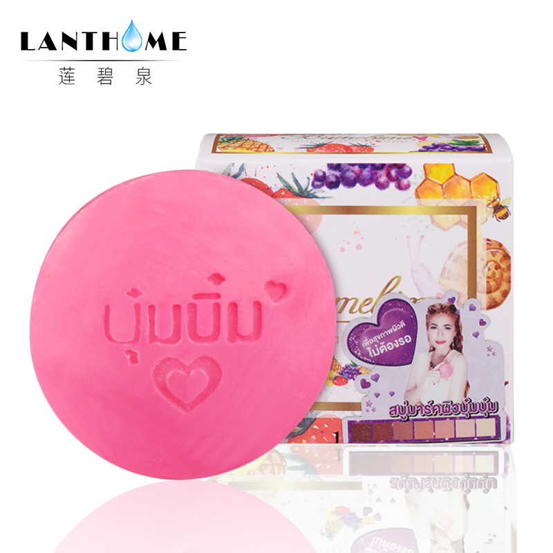 Wholesale 10pcs Thailand Bumebime Handmade Soap Whitening Fruit Essential Oil Soap White Natural Handmade Soap Deep Cleansing handmade dog printed soap stamp diy footprint natural soap resin stamp acrylic crystal transparent seal for soap z0116jy
