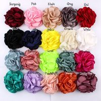 Wholesale Large Singed Flowers Singed Roses Satin Flowers Boutique Appliques For Headband Hair Clips Hair Accessories