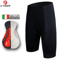 X Tiger Whole Black Coolmax 5D Padded Cycling Shorts 100 Lycra Superelastic Shockproof MTB Bicycle Shorts