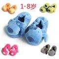 Осень и зима дети тепловой at для дома обувь вилочная часть женское дети младенцы полушерстяной фланелет тапочки обувь пакет с 1 - 8