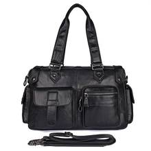 Men Briefcase Black Large Business Travel 15 Laptop Brand Bags Vintage Shoulder Messenger Male Handbag Genuine Leather