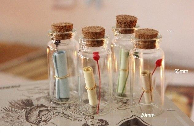 Aliexpresscom Buy 40 pcsLot Mini Glass bottles with corks