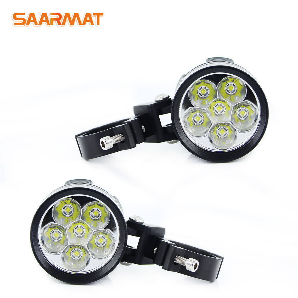 2 pçs universal led moto rcycle farol l6k 12000lm externo moto drl acessórios lâmpada l6x led moto rbike spotlight branco 12 v