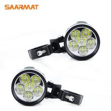 2Pcs Universal LED Motorcycle Headlight L6K 12000lm External MOTO DRL Accessories bulb L6X led motorbike spotlight white 12V