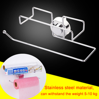 Kitchen Paper Holder Hanger Tissue Roll Towel Rack Bathroom Toilet Sink Door Hanging Organizer Storage Hook