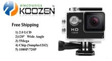 Instock Original GEEKAM Free Shipping Sports Action Camera  A9 With FULL HD 1080P Under Waterproof 30M Function 720p 30fps
