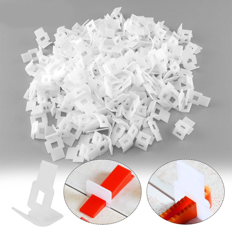 Hot New 500Pcs Tile Leveling System Tools Floor Wall Flat Leveler Plastic Spacers Clips Wedges Building Tiling Installation