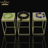 2016 Newest 3 PCS 9*9*14CM Stainless Steel Metal Ring Earring Bracelet Display Jewelry Stand Retail Bracelet Riser