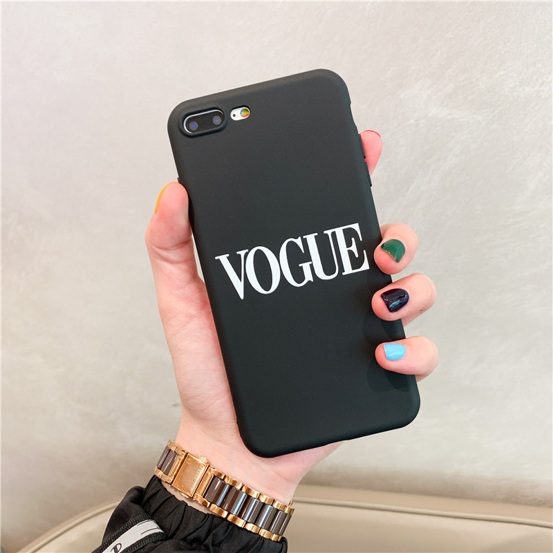 Simple Letters Phone Case For iphone XS Max XR X Case For iphone 11 Pro max 6 6s 7 8 plus Cover Soft Silicone Cases Black Capa