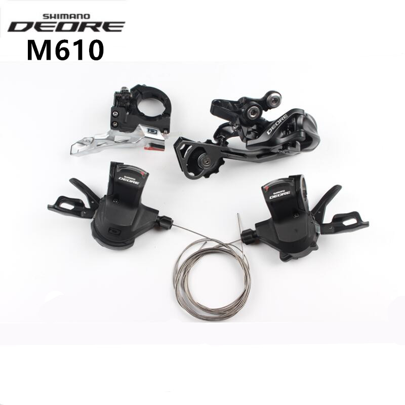 SHIMANO DEORE M610 3x10 30s Trigger Shifter & Front Derailleur & Rear Derailleur & Shift Four Group Set For MTB Mountain Bicycle bicycle mtb 3x10 30 speed front rear shifter derailleur groupset for shimano m610 m670 m780 system