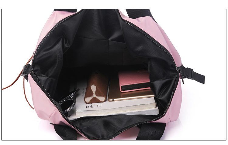 HTB1awRrasnrK1RjSspkq6yuvXXaA Fashion Nylon Waterproof Backpack Women Large Capacity Schoolbags Casual Solid Color Travel Laptop Backpack Teen Girls Bookbags