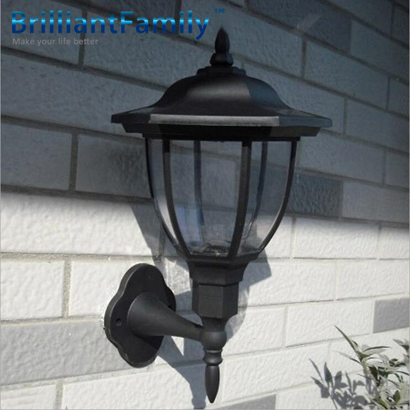 Quality Landscape Lighting Fixtures: High Quality Solar Wall Lights 4 LED Light Control Solar