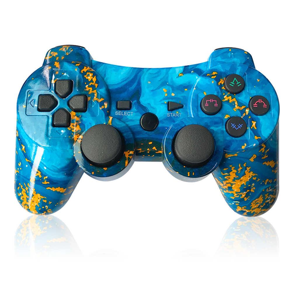 100 New For Sony Ps3 Controller 2 4g Wireless Bluetooth For Playstation 3 Controller For Dualshock4 Vibration Joystick Gamepad Aliexpress