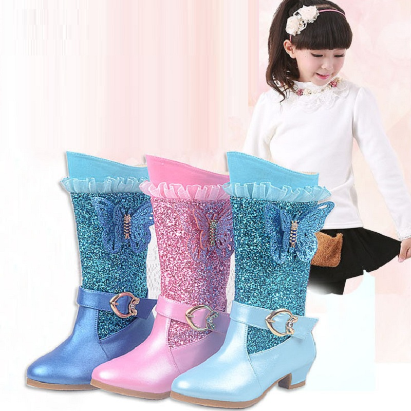 New winter girl s boots waterproof shoes snow boots baby girls winter warm shoes children s