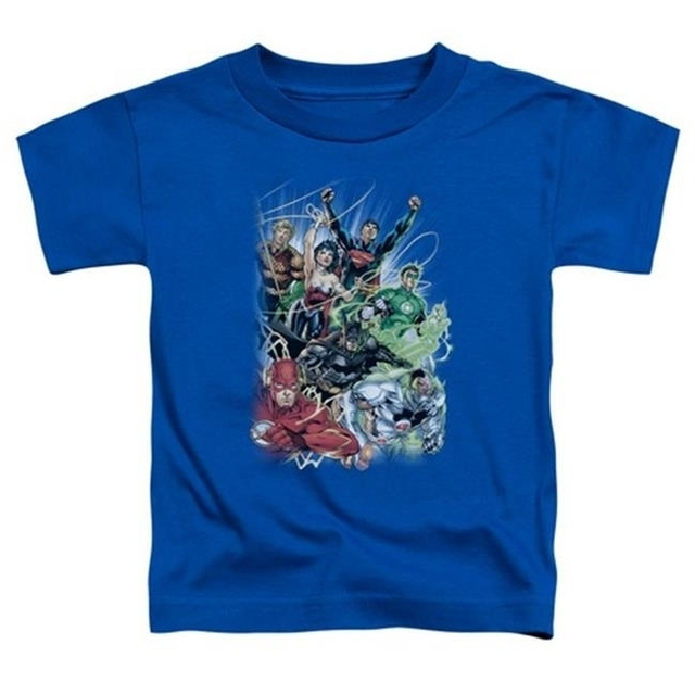Trevco Jla-Justice League No.1 – Short Sleeve Toddler Tee – Royal Medium 3T