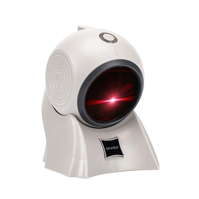 Freeship SM 8120 Handfree Fisso Omnidirezionale Laser Barcode Scanner Reader POS Scanner di codici a Barre USB RS232 1D Scanner di Codici - 4