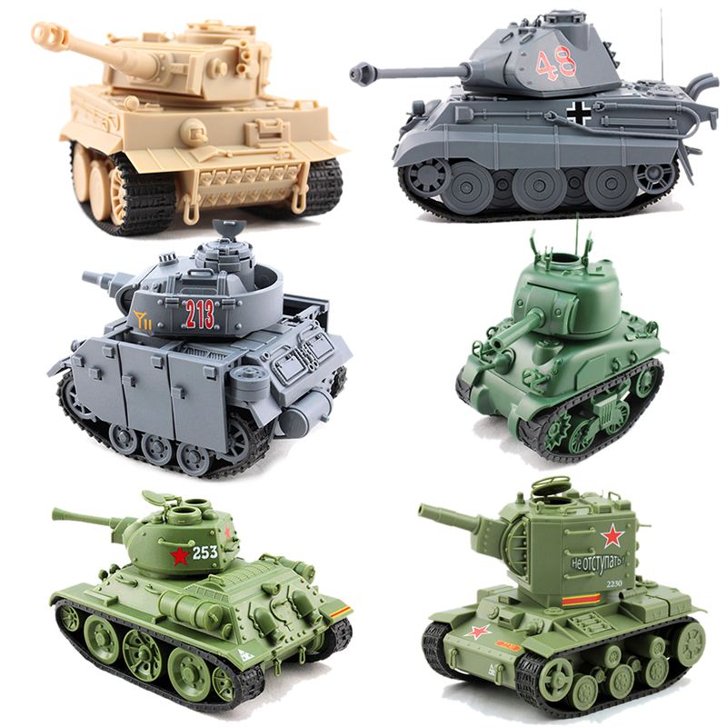 6 Styles Meng Q Ver German Medium <font><b>Tank</b></font> Panzer III Soviet Medium <font><b>Tank</b></font> <font><b>T34</b></font>/76 MA41 KV-2 KING TIEGER Assembly <font><b>Model</b></font> Building Kits image
