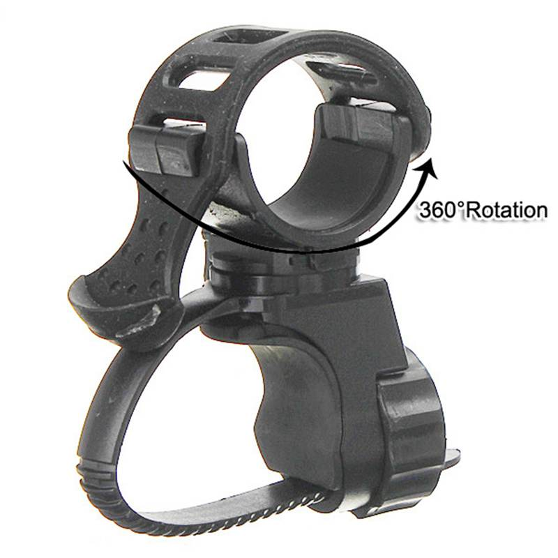 Smuxi 360 Degree Bike Bicycle Flashlight Torch Mount Holder Clamp Clip Adjustable Light Lamp Holder Clip