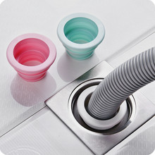 Deodorization Type Floor Drain Sealing Plug Bathroom Washing Machine Cistern Sewer Floor Drainer Telescopic Pipe Color Random цены