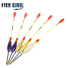 5Pcs/Set Bottom Fishing Floats Hard Tail Set Buoy Bobber Floats Fluctuate Fishing Stick Mix Size Color For Fishing Accessories