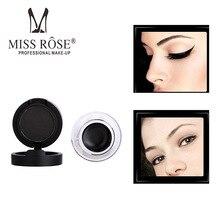 Miss Rose Brand Waterproof Eyeliner Gel Brown + Black Set Makeup Liquid Eye Liner Gel With Brush 24 Hours Long-lasting все цены